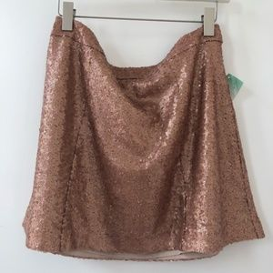 NEW! Sequence Skirt in Rose Gold